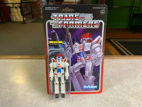 """2019 Super 7 Reaction Transformers Skyfire 4/"""" Action Figure Comme neuf on Card"""