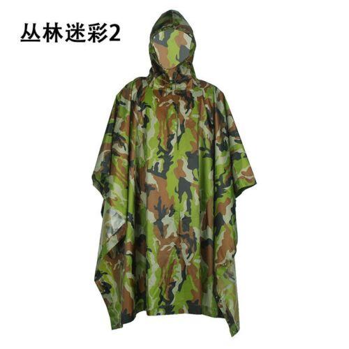 Hooded Poncho Hunting Camping Plus Enhanced Waterproof Military Camo Raincoat