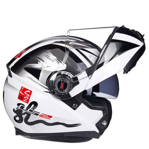 LS2 FF370 Flip Up Full Face Dual Lens Visor Motocross Off Road Motorcycle Helmet