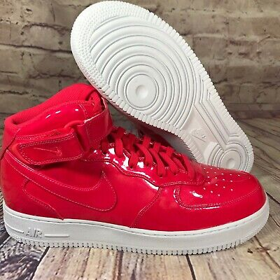 Nike Womens Air Force 1 High Black & Red Patent Leather