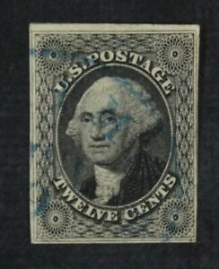 CKStamps-US-Stamps-Collection-Scott-17-12c-Washington-Used-Lightly-Crease