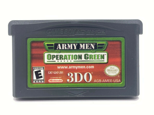 Army Men: Operation Green (Nintendo Game Boy Advance GBA) AUTHENTIC - CART ONLY