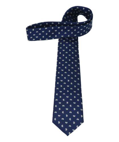 Krawatte Bienenmotivin dunkelblau hochwertige Qualitat gut Geschenk-Idee