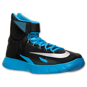new product f442f 6f96d Image is loading AUTHENTIC-NIKE-Zoom-HyperRev-Black-Blue-Silver-Basketball-