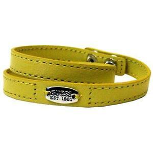 GUESS-bracciale-donna-Jewels-UBB21364-bangle-pelle-giallo-originale-garanzia