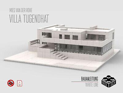 Villa Tugendhat KEINE TEILE! MOC Lego NUR PDF Architecture Bauanleitung