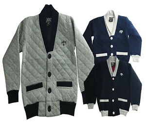 Boys-Kids-Jumper-Cardigan-Top-Clothes-Long-Sleeve-Fleece-Swearshirt-Outfits