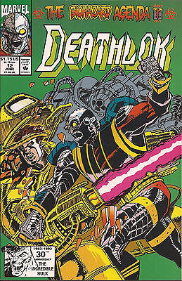Deathlok #12 Marvel Nick Fury Biohazard Agenda Dwayne McDuffie Cowan Lopez VF