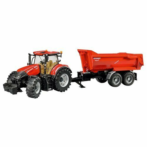GAME TRACTOR CASE LH OPTUM WITH TOW KRAMPE BRUDER 03199