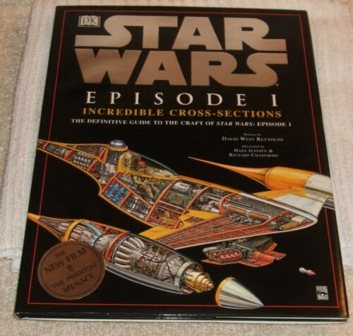 1 of 1 - STAR WARS HARDBACK BOOK ** STAR WARS/EPISODE 1 - INCREDIBLE CROSS-SECTIONS **NEW