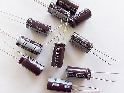 Condensateur électrolytique radial Panasonic 50V 105° valeur au choix FC Low ESR