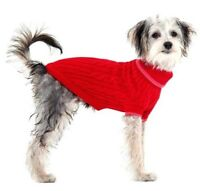Cable Knit Dog Sweater Pet Sweater Red Small