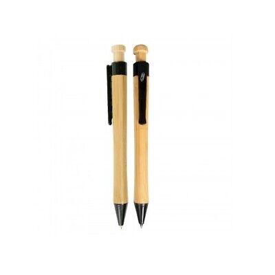 Bamboo Ballpoint Pen Smooth Handmade Shiny Brass Copper Gel Pen For Student US