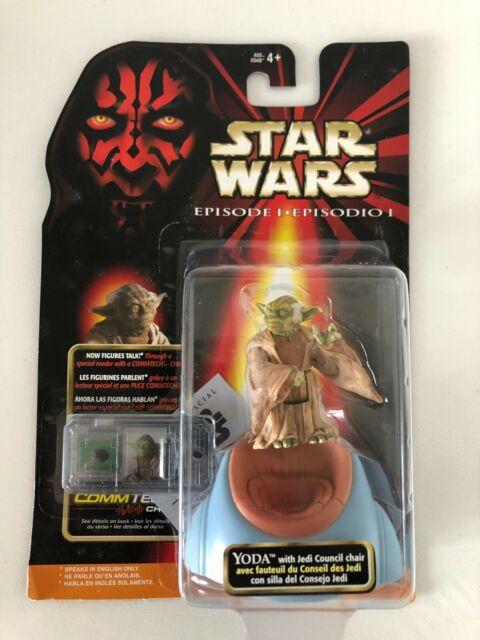 Star Wars Episode I Yoda w/ Jedi Council Chair Action Figure Hasbro 1999 New