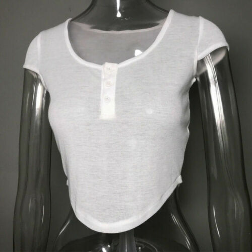 Womens V Neck Shirt Short Sleeve Corset Tops Stretch White Casual Low Collar