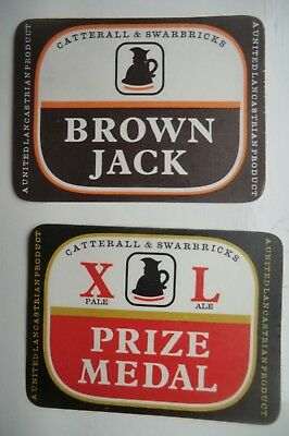 PAIR MINT CATTERALL /& SWARBRICKS BLACKPOOL CS  BREWERY BOTTLE LABELS