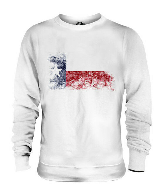 TEXAS STATE DISTRESSED FLAG UNISEX SWEATER TOP TEXAN SHIRT JERSEY GIFT