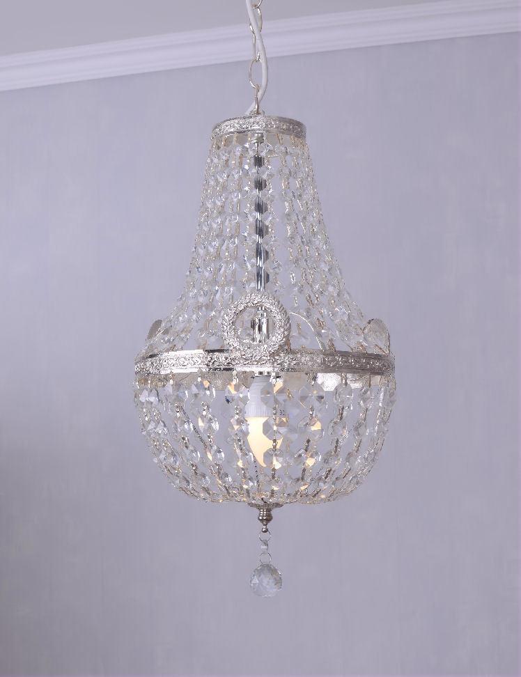 Lustres en cristal plafonnier laiton ancien luminaire couronné laiton plafonnier argenté lampe 424df5