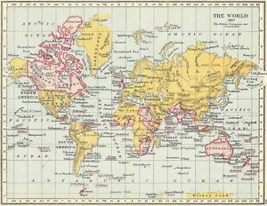1907 map of the british empire poster a3 print ebay image is loading 1907 map of the british empire poster a3 gumiabroncs Choice Image