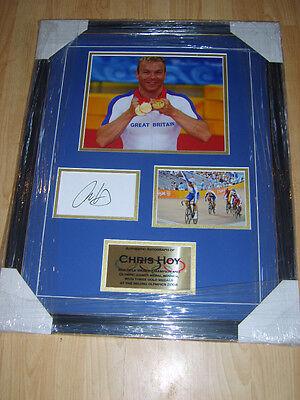 Olympic Memorabilia Beijing 2008 Chris Hoy Signed Montage Aftal