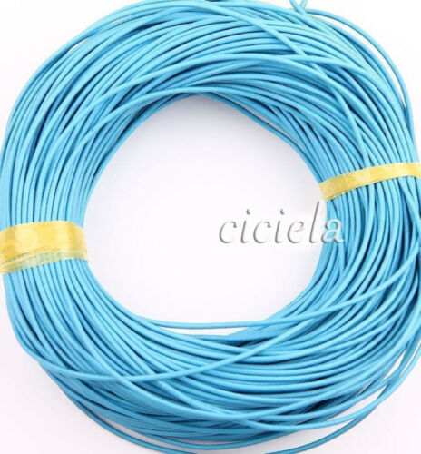 5M Leather Round Rope String Cord Wire Necklace for Jewelry Findings Craft DIY
