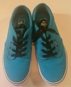 Vans Authentic Womens Youth 7 EU 34 Turquoise/White Canvas Shoe ...