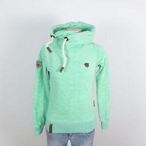 Details zu NAKETANO Pullover Fleece Hoodie Grün Gr. XS 34