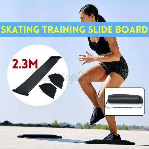 Portable Slide Board Hockey Training Fitness Sliding Gym Skating Skate Workout