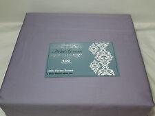 New NMK Textile Mills HOTEL GENEVE Light Plum Queen Sheet Set ~ 400 Thread Count