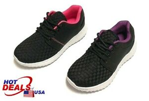 New Boys Girls Youth Toddler Tennis Athletic Shoes Lace Up Kids Size 10-4
