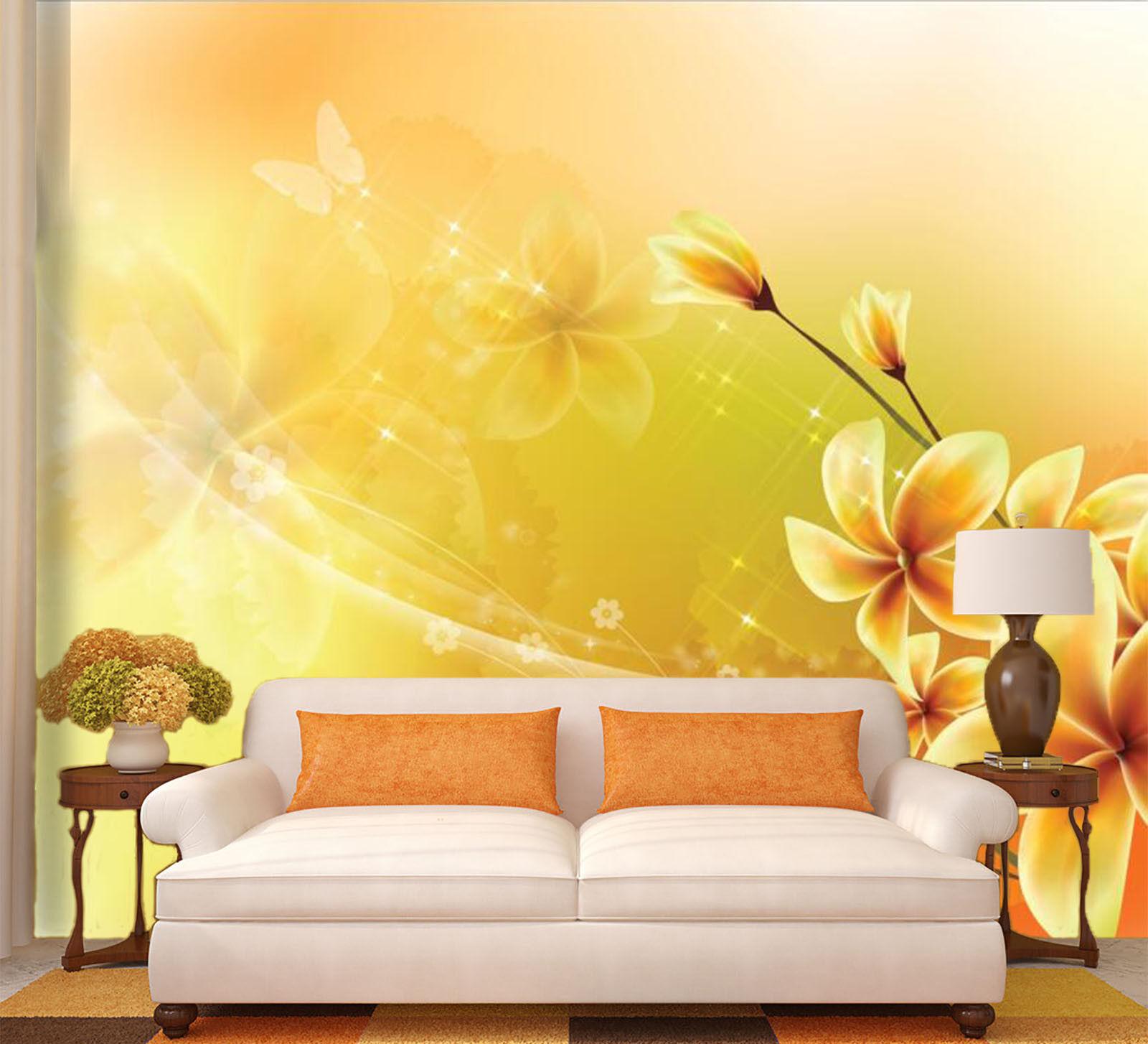 3D Gelb Sternenhimmel Blaumen 778 Tapete Wandgemälde Tapeten Tapeten Tapeten Bild Familie DE Kyra   Qualität    Hohe Qualität und Wirtschaftlichkeit     f806cf
