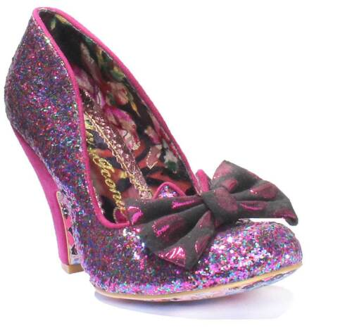 Irregular Choice Nick Of Time Womens Glitter Red Court Shoes UK Size 3-8