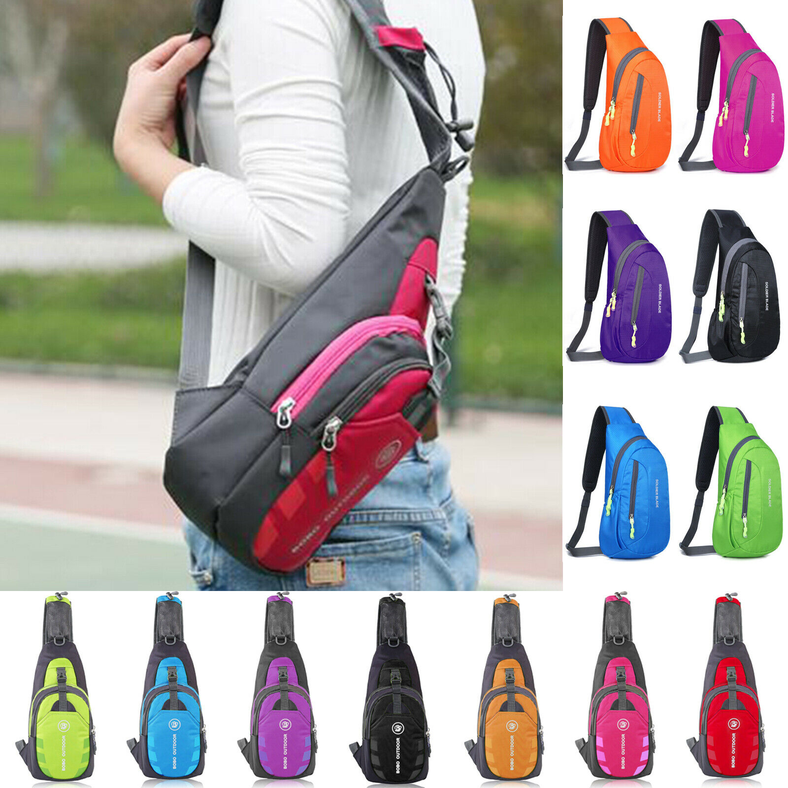 Casual Sports Small Chest Bag Outdoor Shoulder Sling Backpack Gym Cross Body Bag