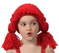 Ragdoll Beanie Hat Wig Cap Raggedy Anne Costume Halloween