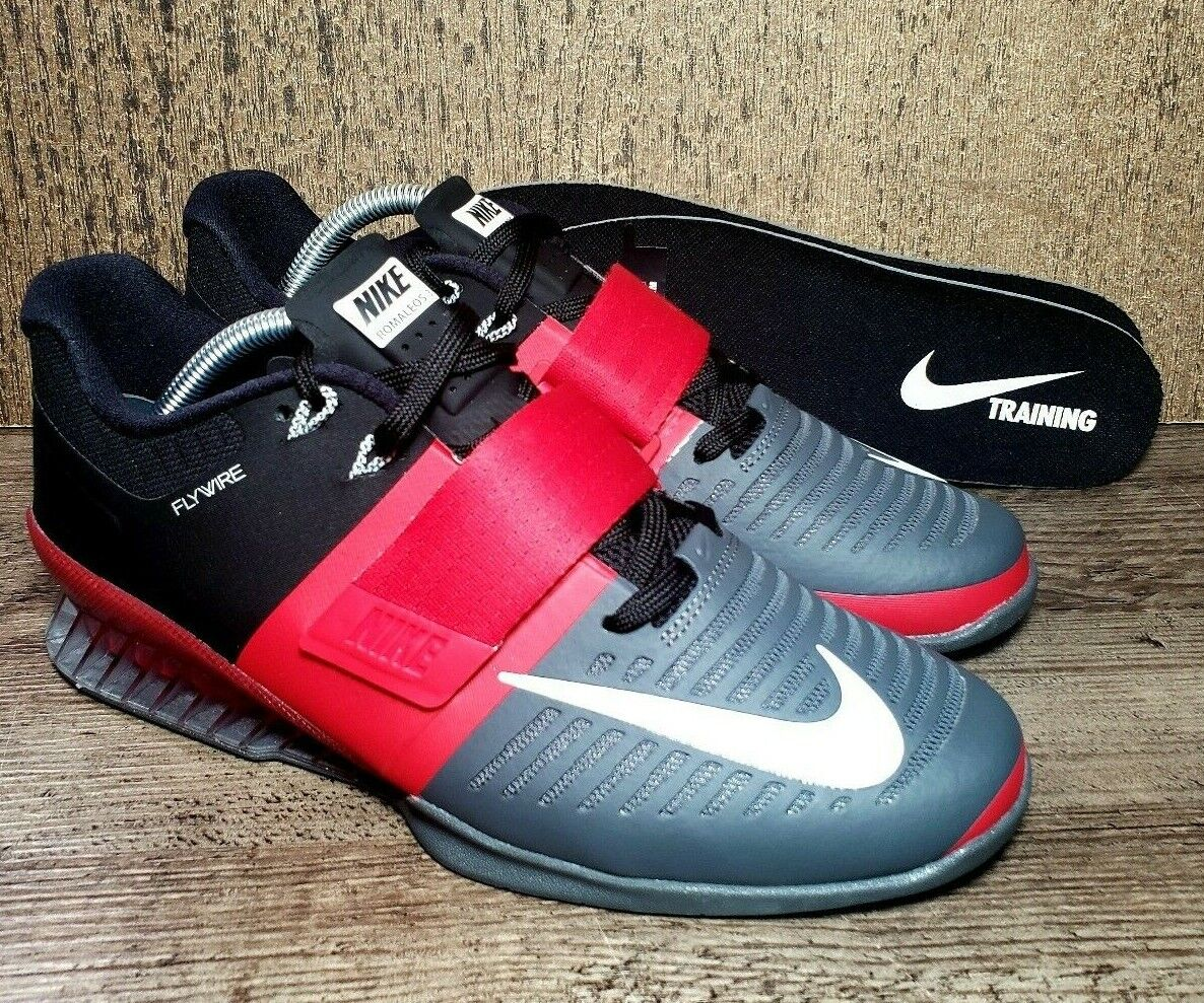4742a1382b8 Nike Romaleos 3 Weightlifting Powerlifting Red 852933-600 Sz 12 Training  shoes nxkqpo1107-Athletic Shoes
