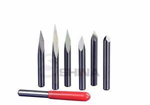 10x 1//8/'/' High Qulaity Carbide PCB Engraving Bit CNC Router Tool 45° 0.3mm