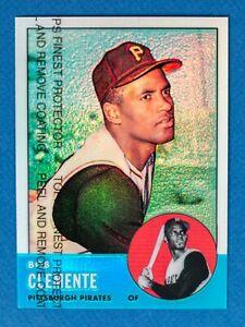 Roberto-Clemente-9-Refractor-1998-Topps-Chrome-1963-Commemorative-Reprint