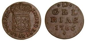 Netherlands-1786-Copper-Duit-KM-105-AU-5325