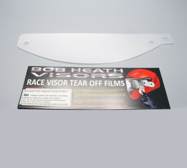 AGV Clear Tear-Offs for Corsa and Pista Helmets