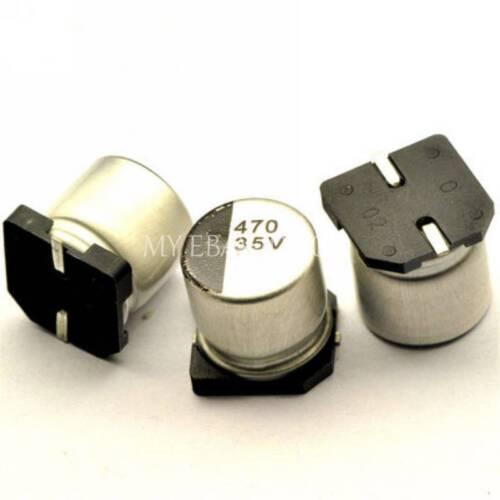 50PCS 470uF 35V 470MFD 35Volt SMD Electrolytic Capacitor 10mm×10mm