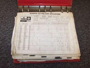 Terex TS14 13UOT 81SH Tractor Scraper Factory Original Parts Catalog