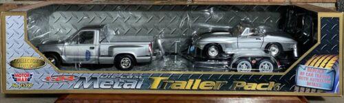 No GMC SIERRA GT PICKUP /& 1967 CORVETTE 1:24 DieCast Metal Trailer Pack 75206