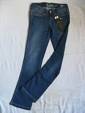 BLEND OF AMERICA Damen Blue Jeans Stretch W26/L34 low waist slim fit flare leg