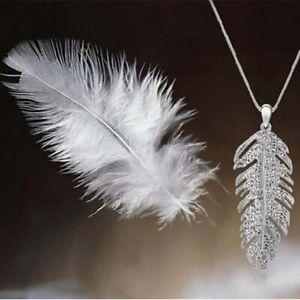 Crystal-Bohemian-Necklace-Feather-Glamour-Women-Leaf-Pendant-Rhinestone