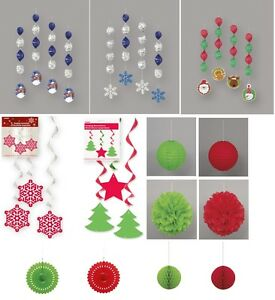 Christmas-Party-Decorations-Hanging-Swirls-Lanterns-Streamers-Fans-Honeycombs