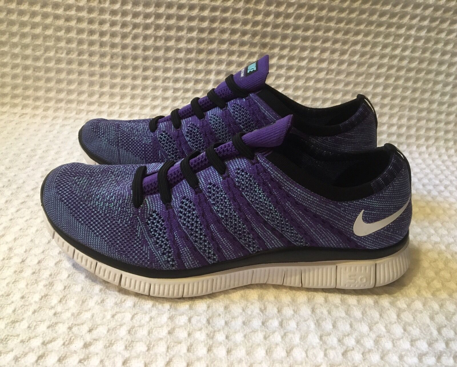 4be68fec1dd5 NIKE 599459 Free Flyknit NSW 5.0 Sneakers Running Shoes Shoes Shoes  130  Blue   Purple 11.5 4d1d94