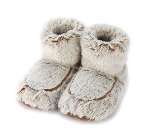 New Warmies Cozy Body Beige Marshmallow Soft Fur Microwavable Slipper Boots RegelmäßIges TeegeträNk Verbessert Ihre Gesundheit Damenschuhe