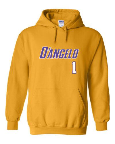 """Los Angeles D/'Angelo Russell /""""D/'Angelo/"""" Hooded SWEATSHIRT Hoodie"""