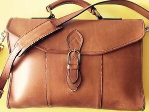 Etats Porte documents couleur Unis Sz14x12 cognac en unisexe cuir aux ceinturant fabriqué Yfyb6g7