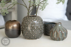 Vase Kaktus Grün Keramik Höhe 14 Cm Retro Nordic Skandinavisch Von
